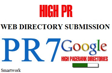 I will submit your sites to PR7 Dofollow Directory