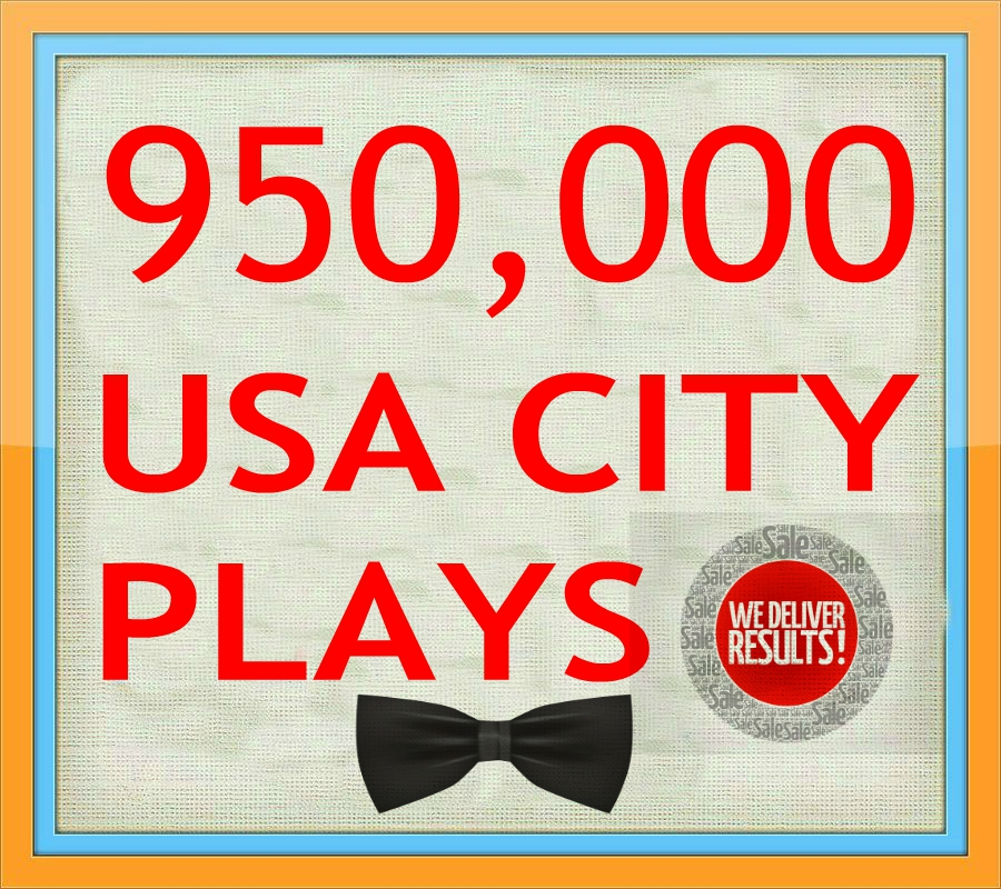 950,000 ORGANIC USA  PLAY/S DONE IN 7 DAYS