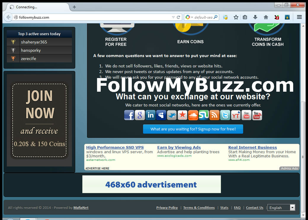 1 Month Banner Advertising on Social Marketing Site 468x60 Or 728x90