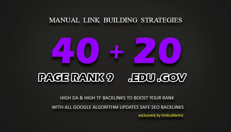 60 High Trust Authority Backlinks