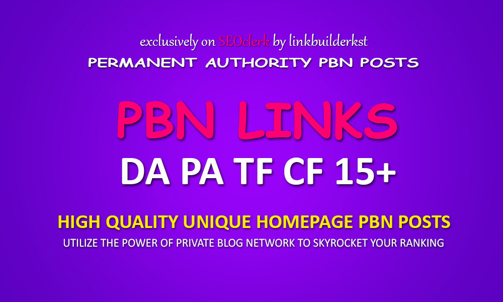 Powerful Homepage PBN Posts - TF/CF PA/DA 15+