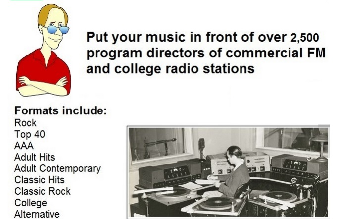 promote your music to over 2500 FM stations