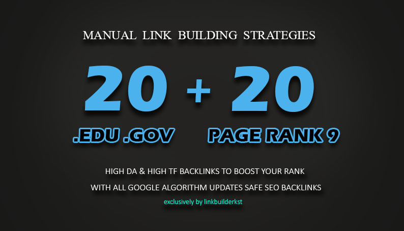 20 PR9 + 20 EDU GOV Backlinks From High Authority Domains