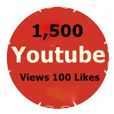 1,500 Youtube Views +100 Likes