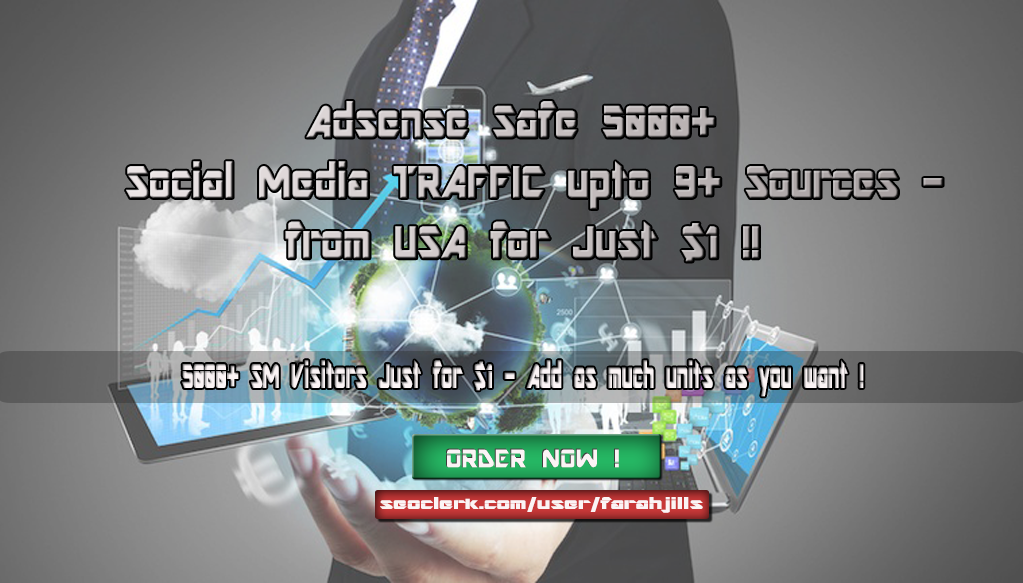 Social Media 5000+ TRAFFIC from Targeted Countries