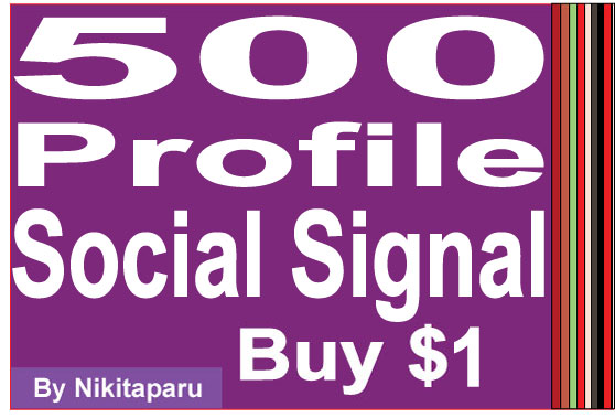 Fast 500 Social Signal to your profile