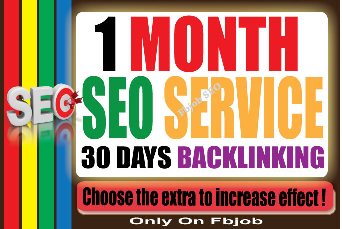 do 1 Month SEO Service ( 30 days Backlinking )