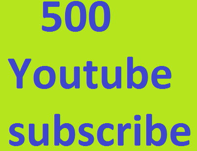 Very Fast 500++ YouTube Subscribers