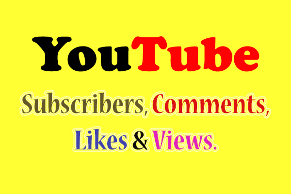 I Will give you 200 Subscribers, 200 Comments, 200 likes & 300 views.