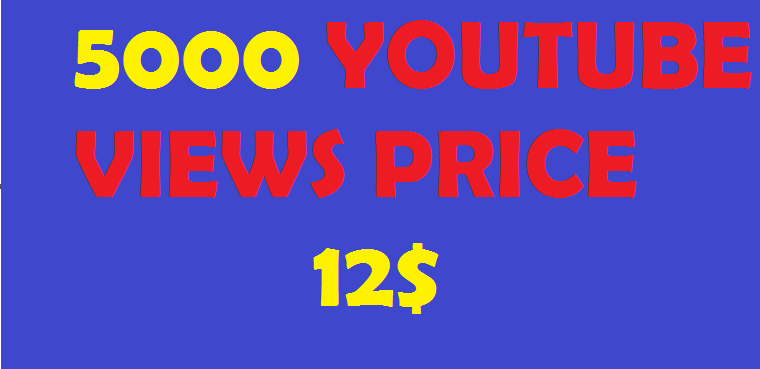 Super fast 50000+ safe youtube  views  price