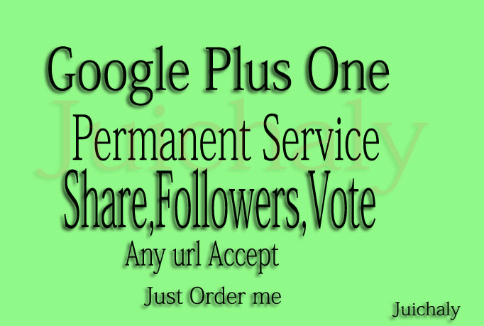Give you 500+ REAL & Permanent USA Google Plus Vote Shares for Websites Youtube Videos