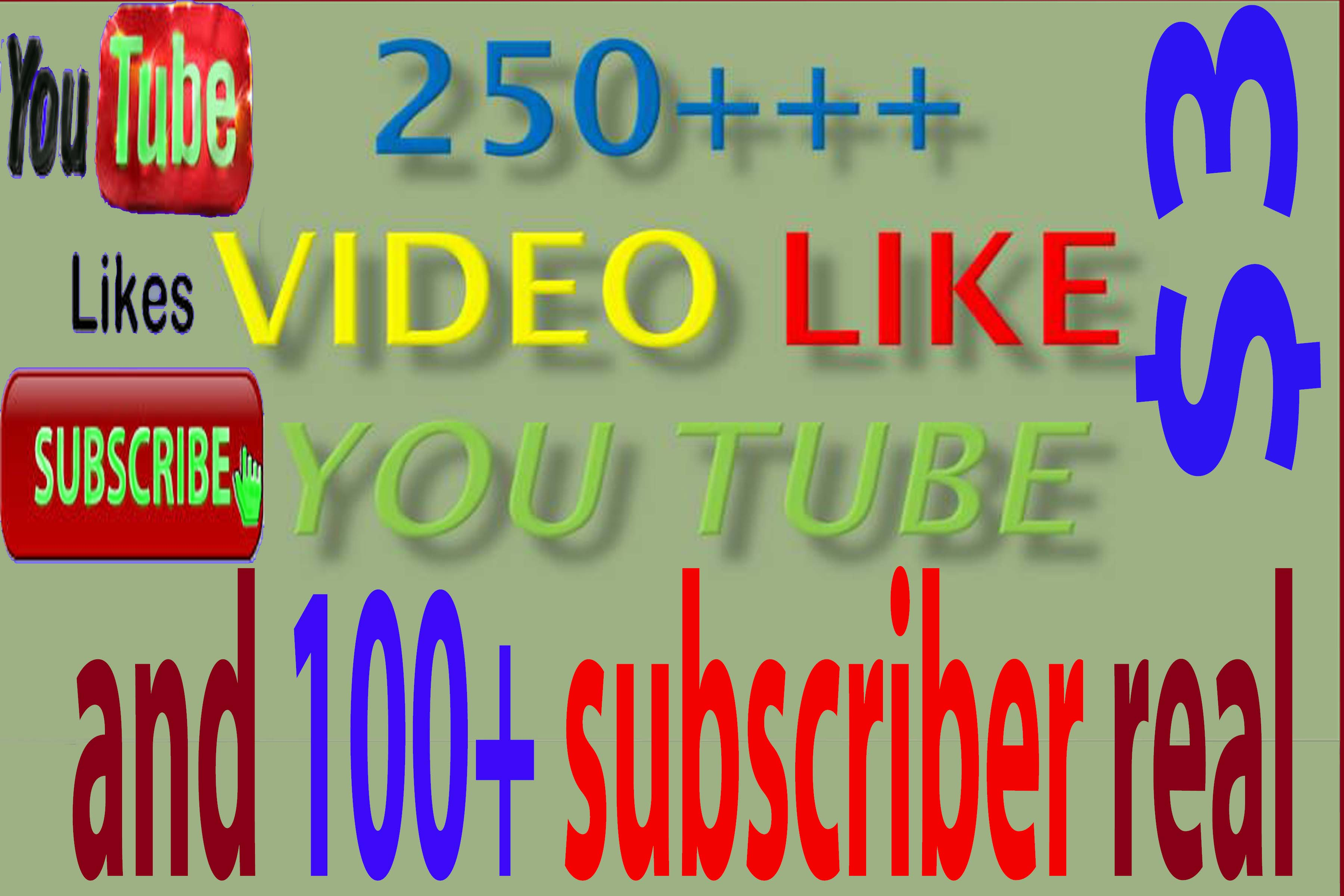 Bumper offer 700 + YouTube likes and Real 20+ you tube subscriber very farist only