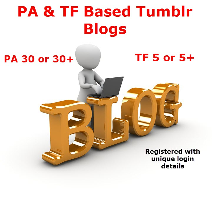 Expired Tumblr Blogs With High Page Authority - PA