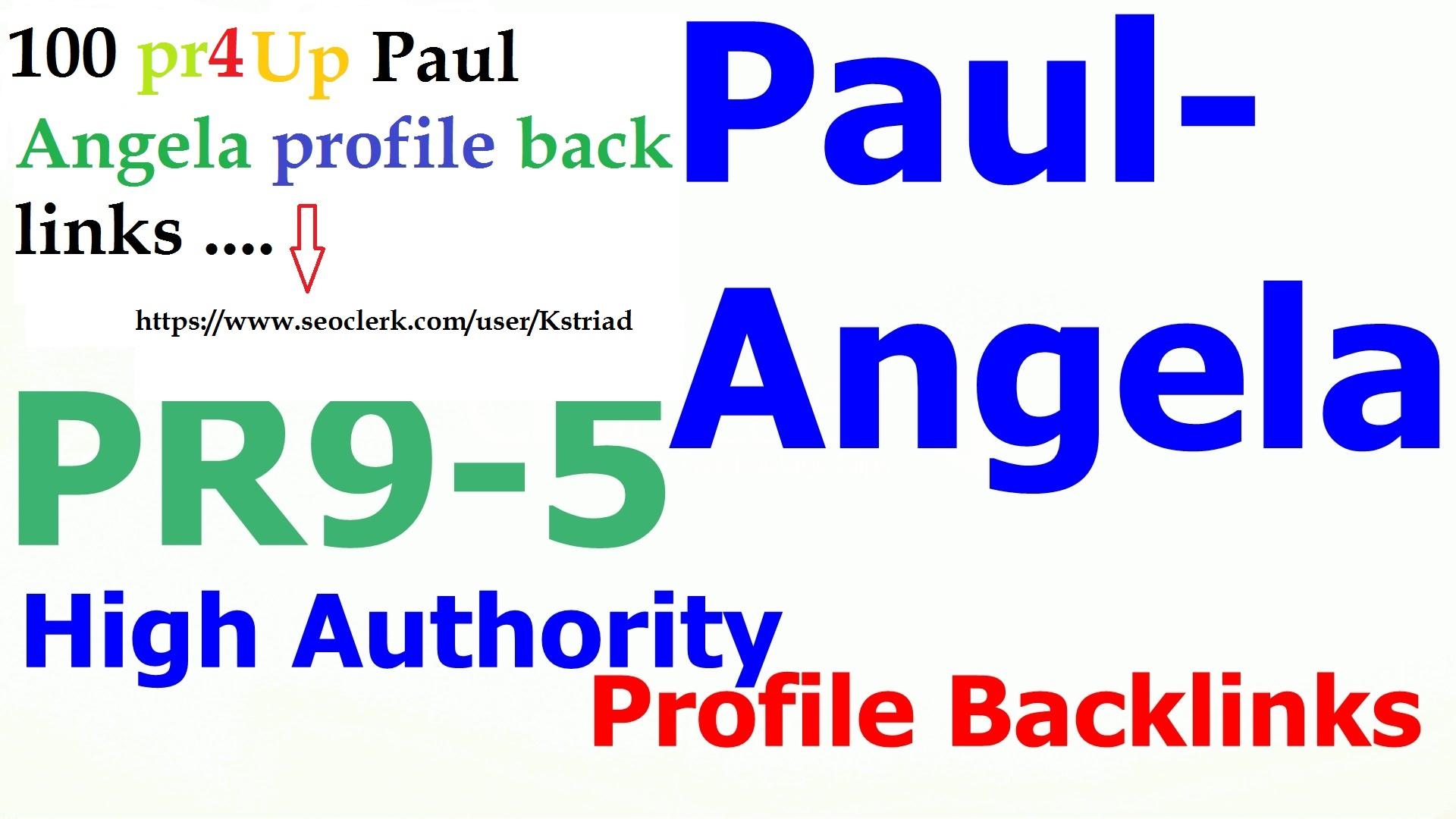 Manually create 100 Pr4 Up paul angela backinks
