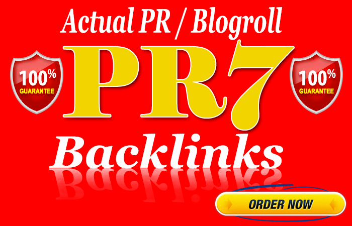 Guranteed PR7 Homepage Backlinks