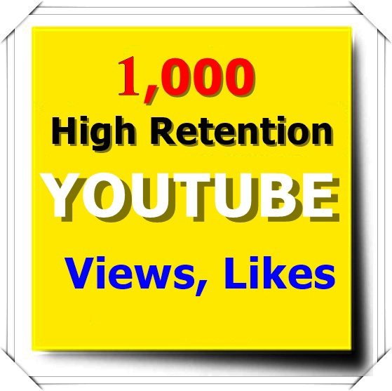 1,000 High Retention Youtube View+100 Likes