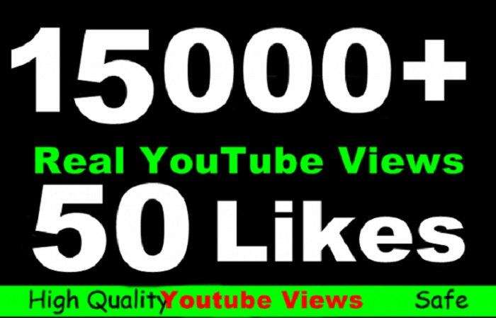 give you 15000+ YouTube video views in 48 hours plus 10 to 40 likes, 10 favorites and 10 subscribers