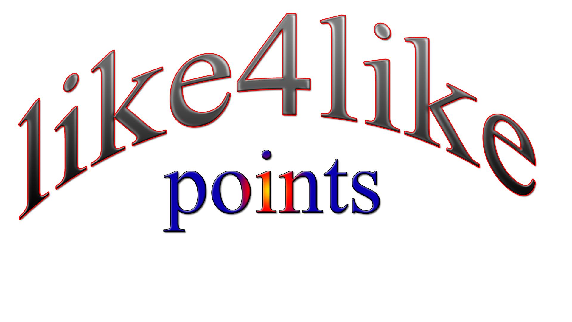 Get you 1500 like4like points
