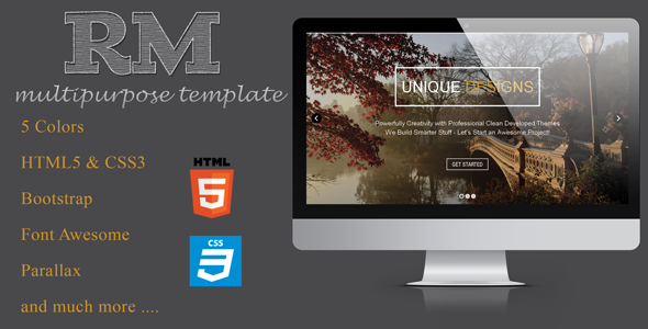 One Page Responsive multipage template Theme