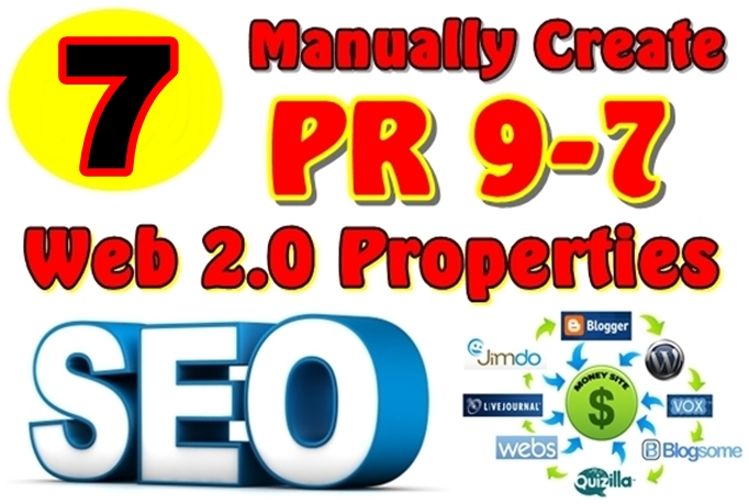 Manually Create 07 PR9-PR7 Web 2 0 Properties and Give you All Logins Detail With Full Report