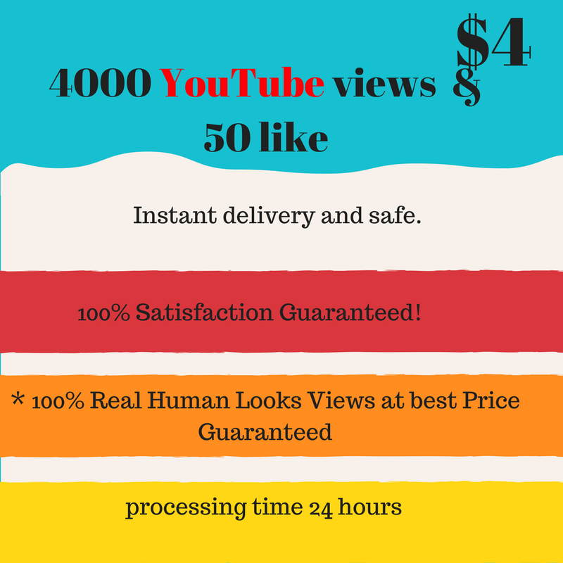 4000 youtube viewers & 50 YT likes