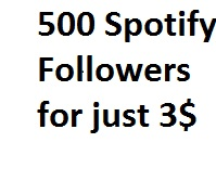 I will add 500 Spotify Followers