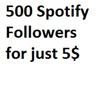I will add 500 Spotify Followers