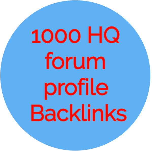 1000 HQ forum profiles backlink
