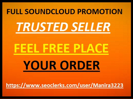 Soundcloud promotion(100 like+10 comment+repost+5k plays +50 followers)