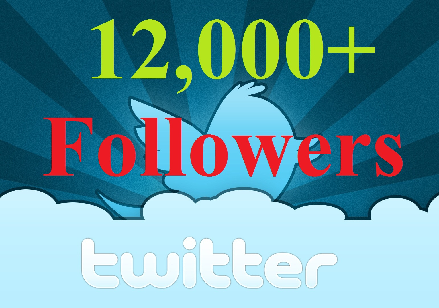 I will add 12,000+ Real Looking TWITTER Followers Within 24 hours