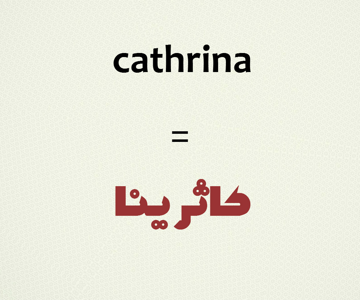 how to write your name in arabic