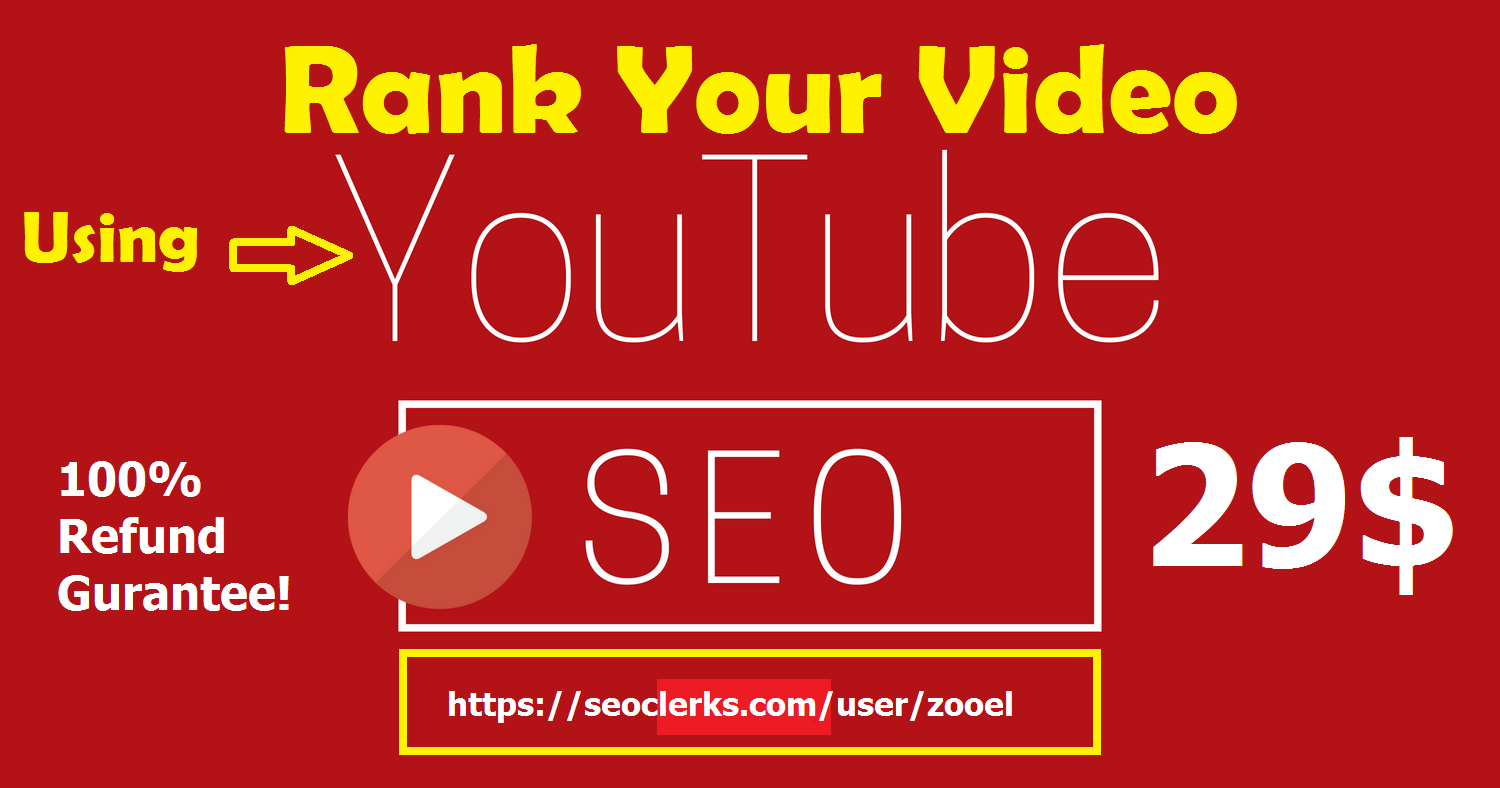 RANK 1 YOUTUBE VIDEO USING SEO WITH GURANTEE
