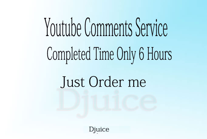 YouTube Custom 25+ Comments in Your Video only