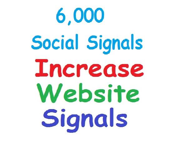Deliver 6,000 Website Social Signals