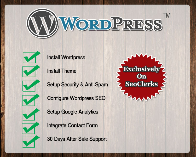 Affordable Wordpress Installation and Setup Service
