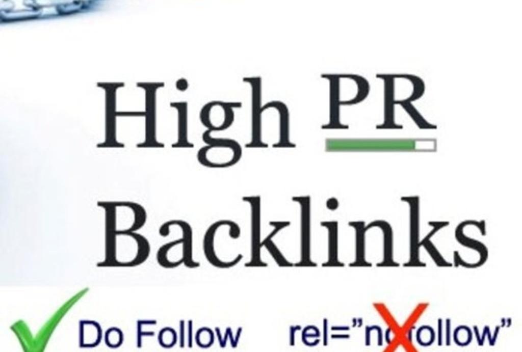 do 50 Niche relavent Backlinks PR 2 to PR 7 High PR Dofollow approved links