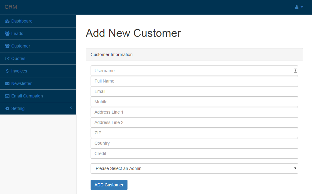 Easy CRM - Easy Customer Relationship Management System