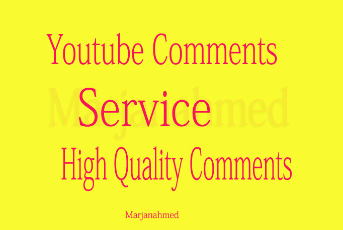 25+ Social Media Custom Video Comments only