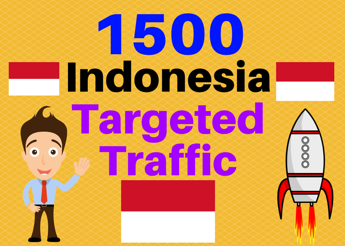 1500 INDONESIA TARGETED Human traffic to your web or ...