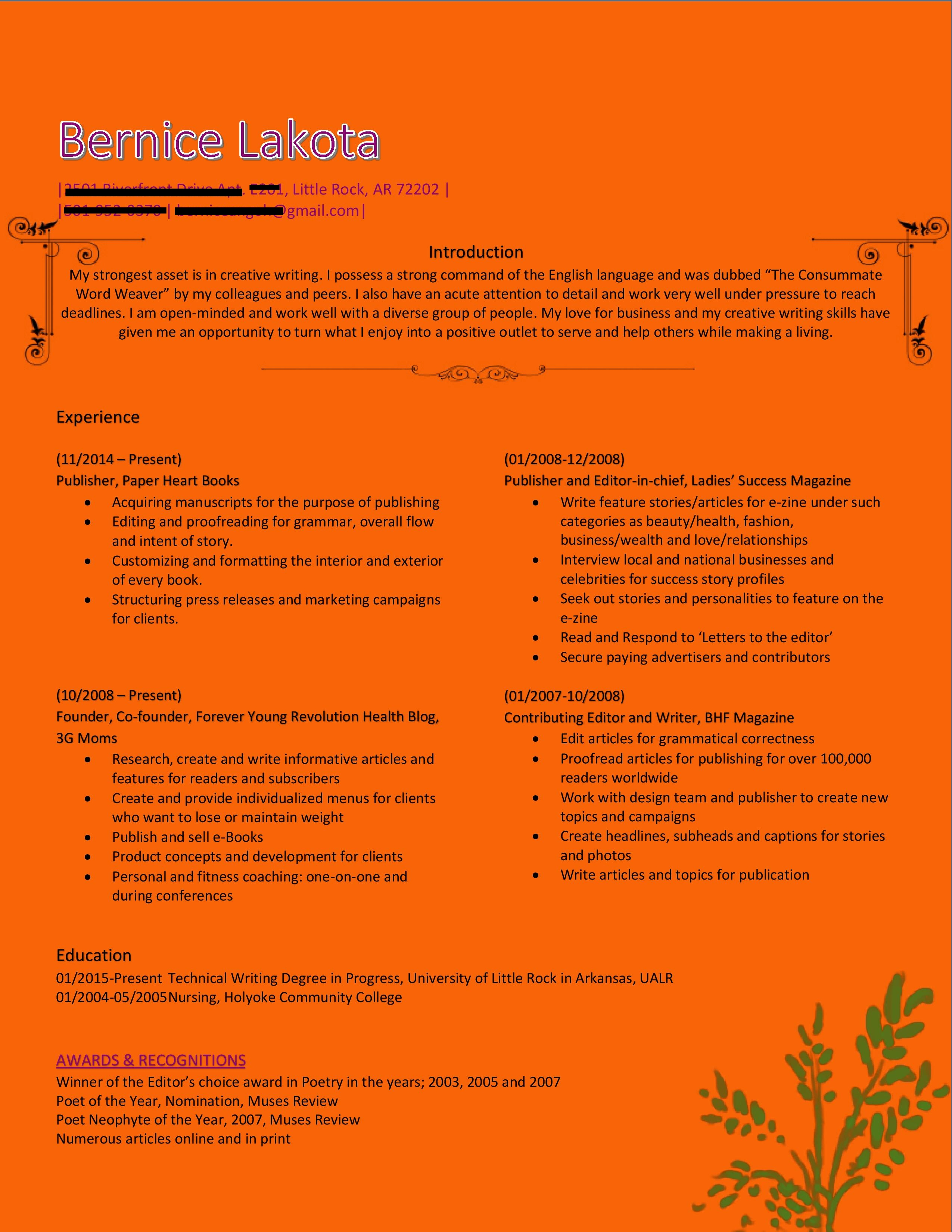 Redesign your Resume