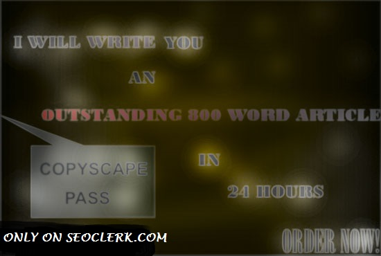 I will write an OUTSTANDING 1000 words SEO article.