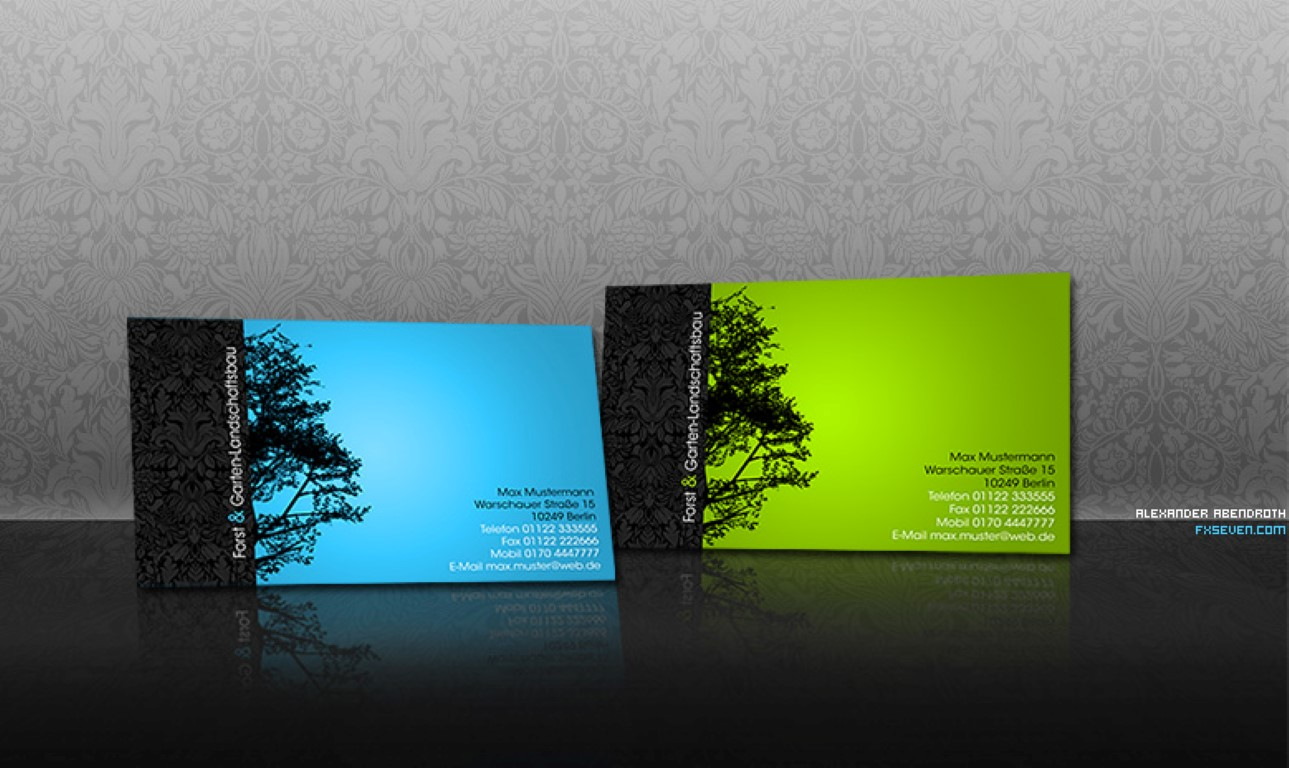 I will design two side business card