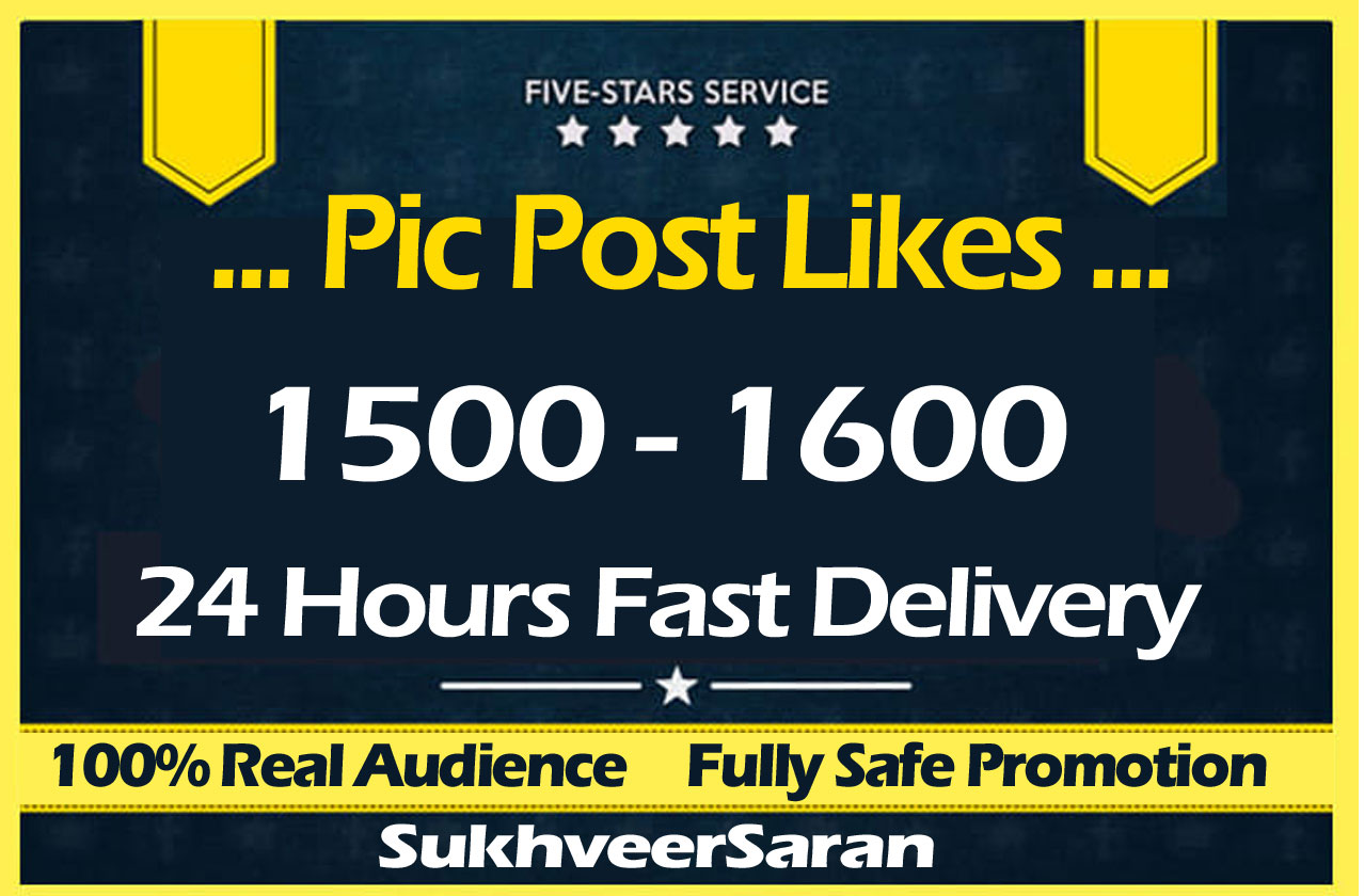1500 High Quality Social Pictures Promotion