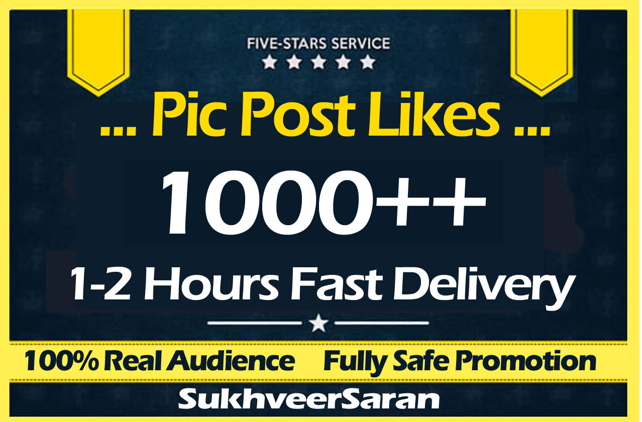 1000 High Quality Social Post Pictures Promotion and Marketing