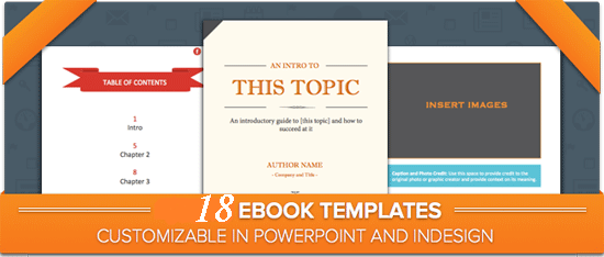 I will provide you 18 customizable ebook templates