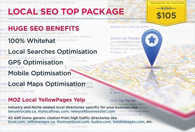 I will local SEO business listings,  directory,  citations for