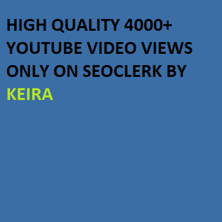 Non Drop  2000 to 3000+ High Retention You,tube views
