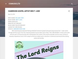 DISCOVER THE CAMEROON GOSPEL ARTIST-PROSPER GERMOH Sponsored Blog Review
