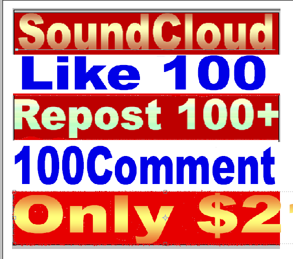 I will give you 100+ SoundCloud Likes and 100 repost 100 Comments