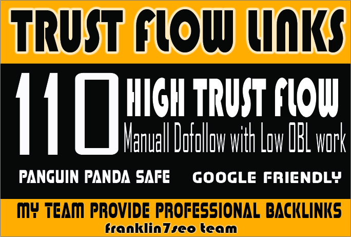 SKY ROCKET YOUR Ranking with my 110 Hihg Trust Flow Backlinks